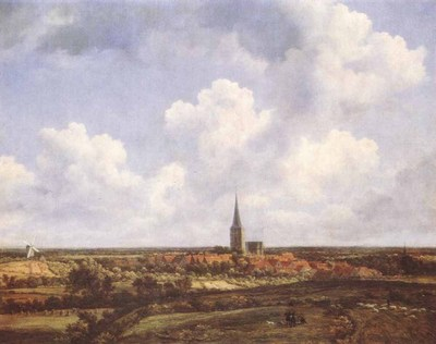 RUISDAEL Jacob Isaackszon van Landscape With Church And Village