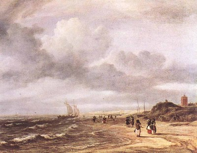 RUISDAEL Jacob Isaackszon van The Shore At Egmond an Zee