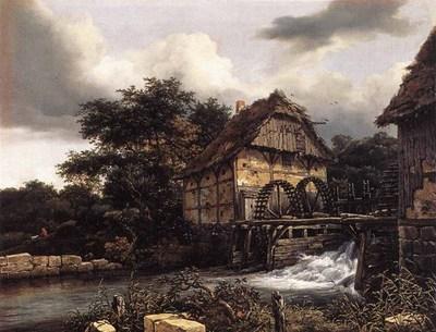 RUISDAEL Jacob Isaackszon van Two Water Mills And Open Sluice