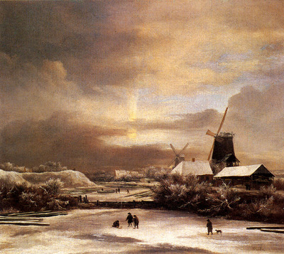 Ruisdael Jacob Issaksz Van Winter Landscape