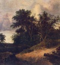 RUISDAEL Jacob Isaackszon van Landscape With A House In The Grove