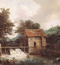 RUISDAEL Jacob Isaackszon van Two Watermills And An Open Sluice Near Singraven