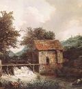RUISDAEL Jacob Isaackszon van Two Watermills And An Open Sluice Near Singraven