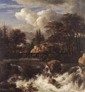 RUISDAEL Jacob Isaackszon van Waterfall IN A Rocky Landscape