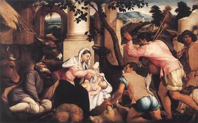 BASSANO Jacopo Adoration Of The Shepherds