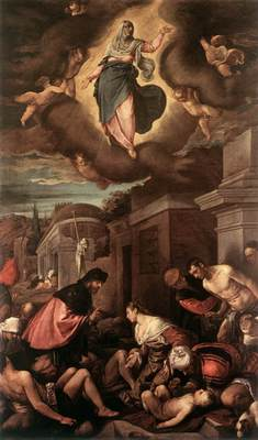 BASSANO Jacopo St Roche Among The Plague Victims And The Madonna In Glory