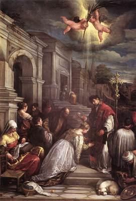 BASSANO Jacopo St valentine Baptizing St Lucilla