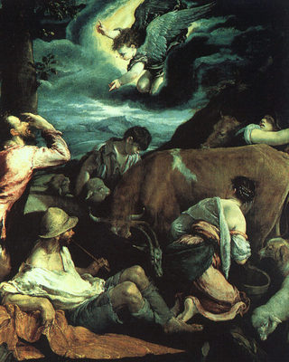 BASSANO Jacopo The Annunciation To The Shepherds