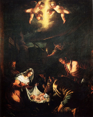 Bassano Jacopo The Adoration Of The Shepherds