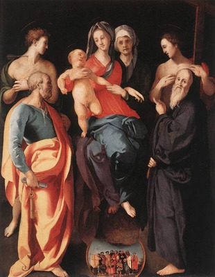 PONTORMO Jacopo Madonna And Child With St Anne And Other saints