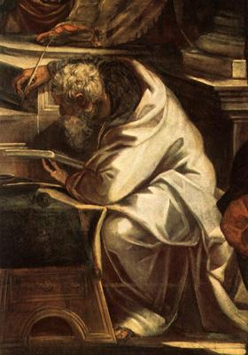 Tintoretto Christ before Pilate detail1