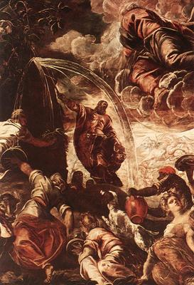 Tintoretto Moses Drawing Water from the Rock detail1