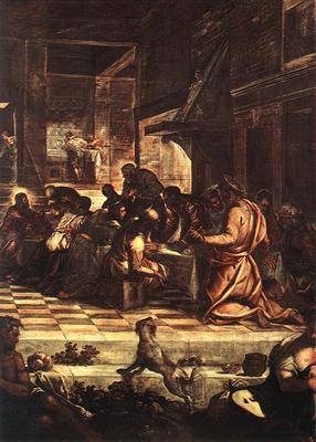 Tintoretto The Last Supper detail1