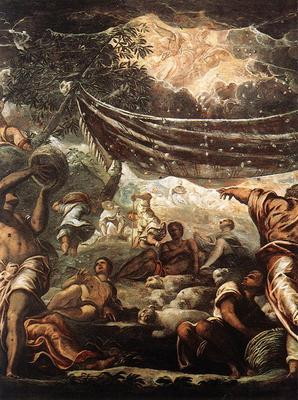 Tintoretto The Miracle of Manna detail