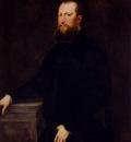 Robusti Jacopo Portrait Of A Bearded Venetian Nobleman