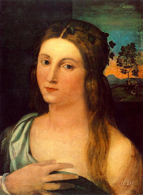 PALMA VECCHIO Portrait Of A Young Woman