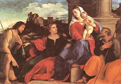 PALMA VECCHIO Sacred Conversation