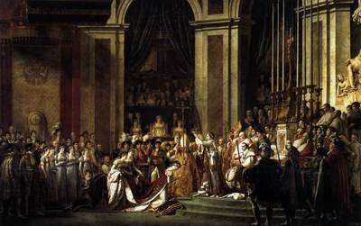 DAVID Jacques Louis Consecration of the Emperor Napoleon I and Coronation of the Empress Josephine