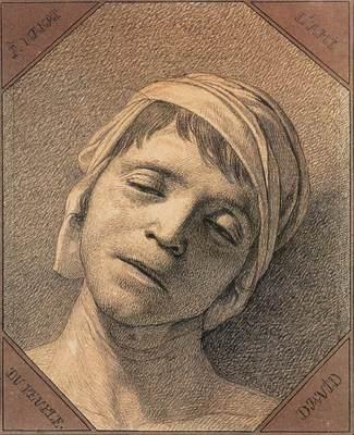 DAVID Jacques Louis Head of the Dead Marat