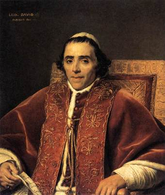 DAVID Jacques Louis Portrait of Pope Pius VII
