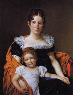 DAVID Jacques Louis Portrait of the Comtesse Vilain XIIII and her Daughter