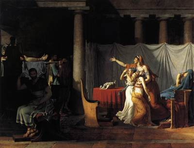 DAVID Jacques Louis The Lictors Returning to Brutus the Bodies of his Sons