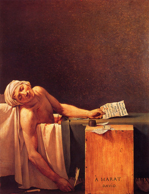 David Jacques Louis The Death Of Marat