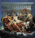 DAVID Jacques Louis Mars Disarmed by Venus and the Three Graces