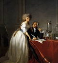 DAVID Jacques Louis Portrait of Antoine Laurent and Marie Anne Lavoisier