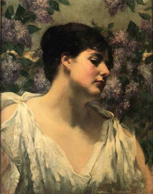 Beckwith James Carroll Under the Lilacs