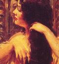 Brunette Combing Her Hair
