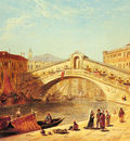 Holland James A View Of The Rialto Bridge Venice