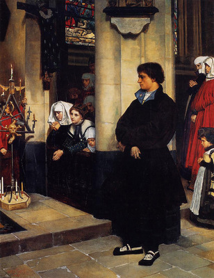 Tissot During the Service Martin Luther s Doubts