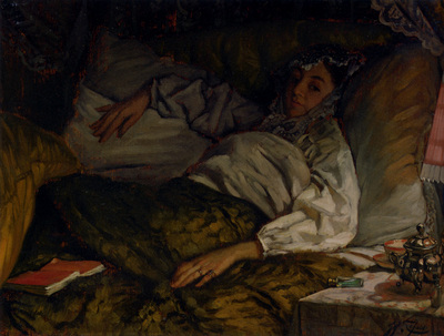 Tissot James Jacques Joseph A Reclining Lady