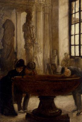 Tissot James Jacques Joseph At The Louvre