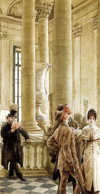 Tissot James Jacques Joseph Au Louvre