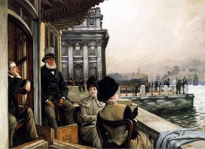 Tissot James Jacques Joseph TheTerrace Of The Trafalgar Tavern Greenwich London