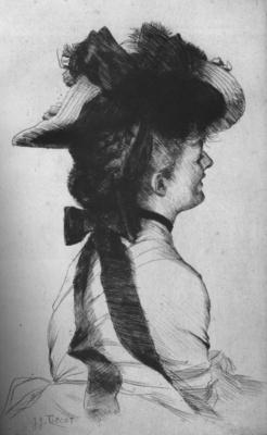 Tissot Le chapeau Rubens