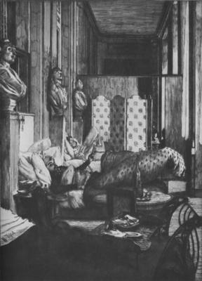 Tissot Le foyer de la Comedie Fracaise pendant le siege