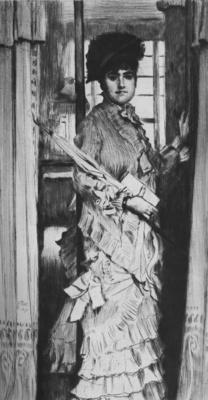 Tissot Portrait de Miss L ou Il faut qu une porte soit ouverte ou fermee