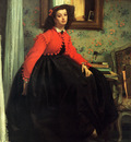 Portrait of Mlle L L
