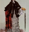 Tissot James Jacques Joseph A Lady In A Black And White Dress