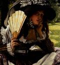Tissot James Jacques Joseph Jeune Femme A L eventail