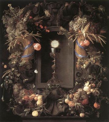 HEEM Jan Davidsz de Eucharist In Fruit Wreath