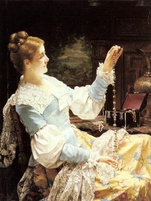 Portielje Jan Frederik Pieter Admiring Her Jewels