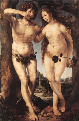 GOSSAERT Jan Adam and Eve