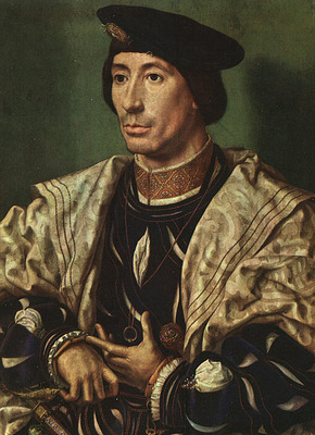 GOSSAERT Jan Portrait of Baudouin of Burgundy