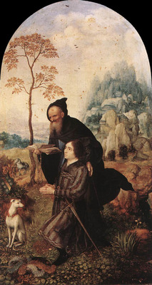 GOSSAERT Jan St Anthony with a Donor