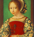 GOSSAERT Jan Young Girl with Astronomic Instrument
