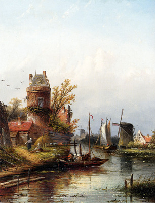 Spohler Jan Jacob Coenraad Vue De Buiksloot Pres D Amsterdam